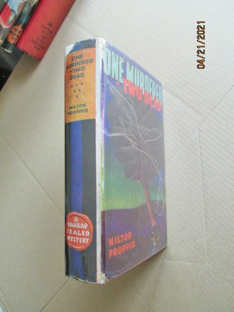 One Murdered Two Dead First Edition Hardback in Original Dustjacket