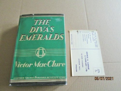 The Diva's Emeralds First Edition Hardback in Original Dustjacket