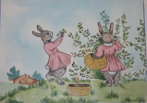 Manuscript of several childrens rabbit stories The Pink Dresses Timothy Meets Mr. Ferret Marmadukes Adventure The Tale of the Tibby