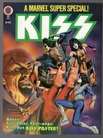1978 KISS MARVEL SUPER SPECIAL #5 NM- 9.2 Fold-Out POSTER Intact JOHN ROMITA JR.