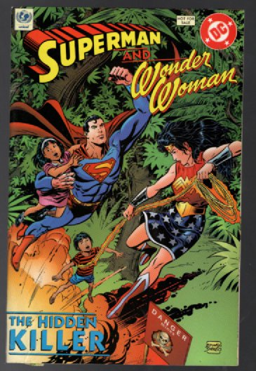 Superman and Wonder Woman UNICEF Comic The Hidden Killer With Stickers 1998 #0