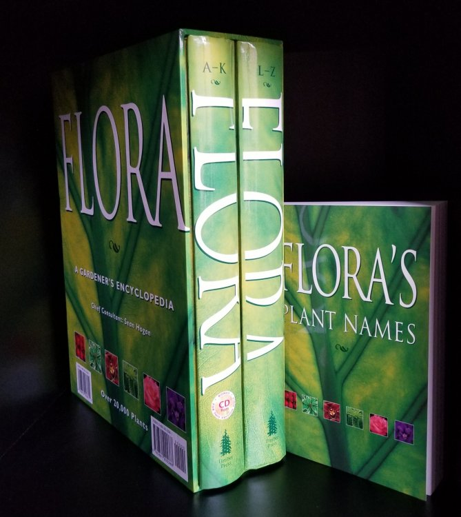 Flora: A Gardener's Encyclopedia 2 volume set , vol 1 A-K vol 2 L-Z, with CD-ROM and Companion volume Flora's Plant Names.