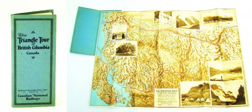 The Triangle Tour of British Columbia Canada - Map Supplement to the Canadian Rockies Folder